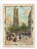 AU BON MARCHE CHROMO  PARIS TOUR ST SAINT JACQUES LUIGI LOIR NOURRICE  DOS ILLUSTRE 1903 VENTE COSTUMES 23 MARS - Au Bon Marché