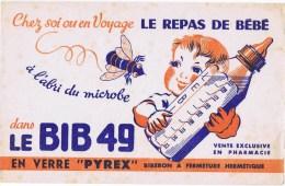 Buvards  LE BIB  49 Le Repas De Bébé - Buvards, Protège-cahiers Illustrés