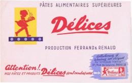 Buvards  PATES ALIMENTAIRES SUPERIEURES DELICES - D
