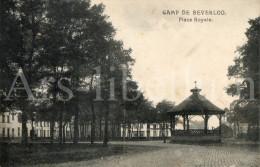 Postkaart / Post Card /1913 / Leopoldsburg / Bourg Léopold / Camp De Beverloo / Place Royale / Ed. Phob - Leopoldsburg