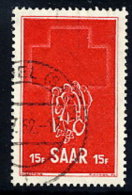 SAAR 1952 Red Cross Week 15 Fr. Used.  Michel 318 - 1947-56 Protectorate