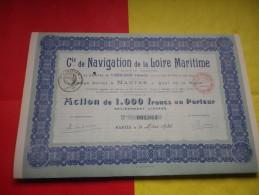 Cie DE NAVIGATION DE LA LOIRE MARITIME (capital 1,3 Million) Nantes,loire Atlantique - Unclassified