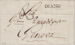 Italy EL 1817 Diano To Genova - 1. ...-1850 Prephilately
