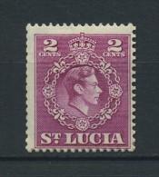 SAINT  LUCIA    1949    2c  Magenta    Perf  14 1/2 X 14        MH - St.Lucia (...-1978)
