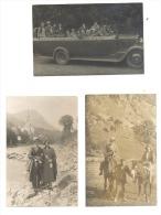 LOURDES - Lot De 3 Photos Cartes - Car, Autobus, Oldtimer (1173) - Lourdes