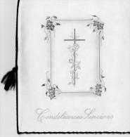 """BIGLIETTI    """"  CONDOLEANCES SINCERES """"       (USATI) - Avvisi Di Necrologio"""