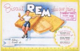 Buvards  BISCUIT REM - Buvards, Protège-cahiers Illustrés