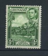 GRENADA   1938     1/2d  Blue  Green     Perf  12 1/2 X 13 1/2        MH - Grenada (...-1974)