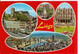 LIEGE - Carte 4 Vues - Old Cars - Liege