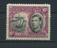 GRENADA   1938     6d  Black  And  Purple     Perf  12 1/2         MH - Grenada (...-1974)
