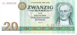 Germany Dem.Rep. - Pick 29 - 20 Mark 1975 - Unc - [ 6] 1949-1990 : RDA - Rep. Dem. Tedesca