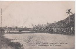 TONKIN ( ASIE - Indochine - Viet-Nam)  :  DOSON    Fête Du 15 Août 1904. Procession Du Buffle Gagnant - Vietnam