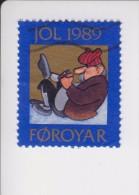 Faeroër Kerstvignet Cataloog AFA Julemaerker 1989 (1 Van 8 Versch.) - Féroé (Iles)