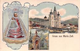 ¤¤  -   AUTRICHE  -  Carte Gauffrée  -  Gruss Aus MARIA ZELL  -  Décoration Argentée  -  ¤¤ - Mariazell