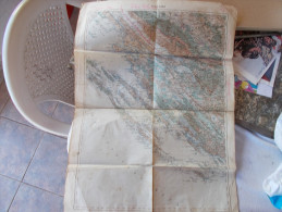 WW1,Map,Zara,Zadar,1915. K.u.K. 48 X 60 Cm, Croatia,Austria,Hungary - Cartes Topographiques