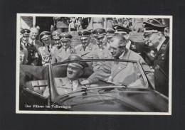 Dt. Reich AK Der Führer  Im Volkswagen 1938 - Historische Persönlichkeiten