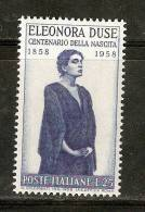 IT072 - ITALIA - Sassone 848 ** - Centenario Nascita Eleonora Duse - 1946-60: Nuovi