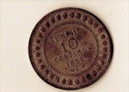 10 CENTIMES BRONZE 1892 (LOT AB9) - Tunisie