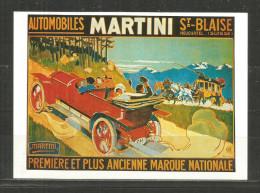 356 * AUTOMOBILES MARTINI * ST.BLAISE * NEUCHATEL * SUISE **!! - Ansichtskarten