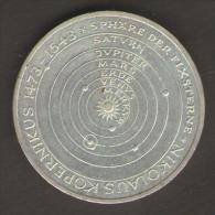 GERMANIA 5 MARCHI 1973 500 TH ANNIVERSARY BIRTH OF NICHOLAS COPERNICUS AG SILVER - [ 7] 1949-… : RFA - Rep. Fed. Tedesca