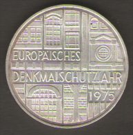 GERMANIA 5 MARCHI 1975 EUROPEAN MONUMENT PROTECTION YEAR AG SILVER - [ 7] 1949-… : RFA - Rep. Fed. Tedesca