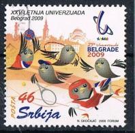 2009 - SERBIA - UNIVERSIADE DI BELGRADO. USATO - Serbia