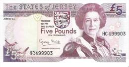 Jersey - Pick 21 - 5 Pounds 1993 - Unc - Jersey
