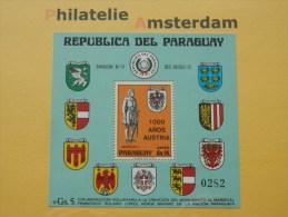 Paraguay 1976, 1000 ANN. AUSTRIA / COAT OF ARMS: Mi 2754, Bl. 268, ** - Paraguay