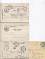 3 CP Dont 2 Minisrère Des CF, Poste&Télégraphe+ 1 Entier Avec C.Peteghem 1891-1900-1904 PR2354 - Briefe & Fragmente