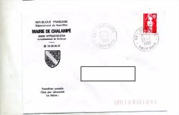 Lettre Cachet Chalampe Entete Mairie - Marcophilie (Lettres)
