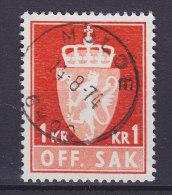Norway Dienstmarke Service 1968 Mi. 94     1.00 Kr Staatswappen Deluxe MOLDE Cancel !! - Service