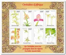 Burkina Faso 2002, Postfris MNH, Flowers, Orchids - Burkina Faso (1984-...)