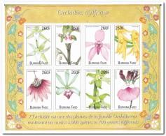 Burkina Faso 2000, Postfris MNH, Flowers, Orchids - Burkina Faso (1984-...)