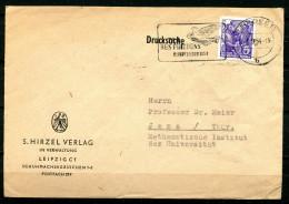 """DDR 1954 Drucksachen Bedarfsbrief M.Mi.Nr.364 U.Propaganda MWST""""Leipzig C 13-Stadt Des Frieden-Friedenstaube""""1 Beleg - DDR"""