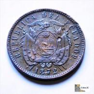 Ecuador - 2 Centavos - 1872 - Scarce - Ecuador