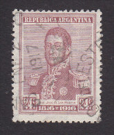 Argentina, Scott #224, Used, Jose De Martin, Issued 1916 - Used Stamps