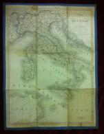 Carte De L' Italie Cardieu E Audot 1837  Prix 2,50 Francs  Paris - Carte Geographique