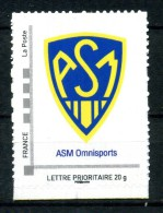 "Ecusson Association Sportive Montferrandaise Omnisport .Adhésif Neuf **.Collector "" AS MONTFERRAND CLERMONT AUVERGNE "" - Collectors"