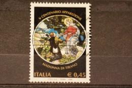ITALIA USATI 2004 - 5° CENT. APPARIZIONE MADONNA DI TIRANO - SASSONE 2777 - RIF. G 0375 - 6. 1946-.. Repubblica