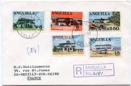 ANGUILLA LETTRE RECOMMANDEE DEPART ANGUILLA 29 MAR 69 VALLEY POUR LA FRANCE - Anguilla (1968-...)