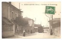 6. AZIEU - GENAS (Isère) - Terminus Tramway - TRAMWAY - TRAIN - TERMINUS - France