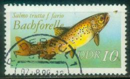 DDR  1987  Süßwasserfische  (1 Gest. (used))  Mi: 3096 (0,60 EUR) - [6] République Démocratique
