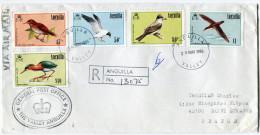 ANGUILLA LETTRE RECOMMANDEE PAR AVION DEPART ANGUILLA 29 MAY 1986 VALLEY POUR LA FRANCE - Anguilla (1968-...)