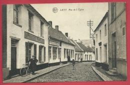Lens - Rue De L'Eglise - Imprimerie Vilain Frères - Cycliste ( Voir Verso ) - Lens