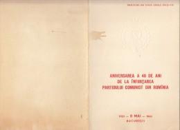 3004FM- COMMUNIST PARTY ANNIVERSARY, BOOKLET, 1961, ROMANIA - Carnets