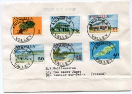 ANGUILLA LETTRE DEPART ANGUILLA 27 NOV 67 VALLEY POUR LA FRANCE - Anguilla (1968-...)