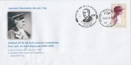 3046FM- IULIU HATIEGANU, CLUJ NAPOCA MEDICINE UNIVERSITY, SPECIAL COVER, QUEEN MARY STAMP, 2010, ROMANIA - Medicine