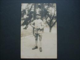 Carte Photo Militaire Du 127e (dragon ?) Prisonnier De Guerre Numéro Sur Poitrine 16811 WW1 - Circulée  L223B - War 1914-18