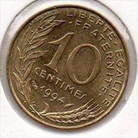 France - 10 Centimes 1994 - Dauphin - SUP/TTB+ - (Marianne - Lagriffoul) - D. 10 Centimes