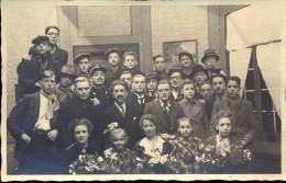 Foto Carte Photo Fotokaart - Groep Toneel Het Werk Van Den Akker - 1942 - Hasselt - Fotograaf Melotte - Non Classés